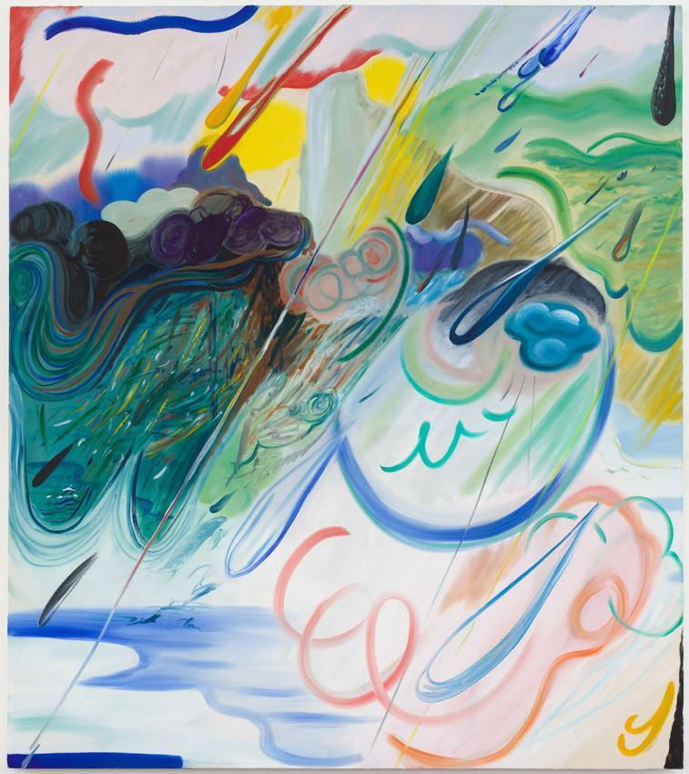 <B>Shara Hughes</B><br /><br /><I>Strike One</I><br />2018<br />oil on canvas<br />68 x 60 inches<br />  (172.7 x 152.4 cm)<br />PF5113<br />
