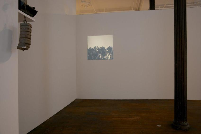 Helen Mirra<br /><br />Kestrel<br />1997<br />fifty-six black and white photographs, slide projector, paint on wall<br />dimensions variable<br />duration of sequence 3 or 11 minutes<br />Edition of 3<br />PF3284<br />