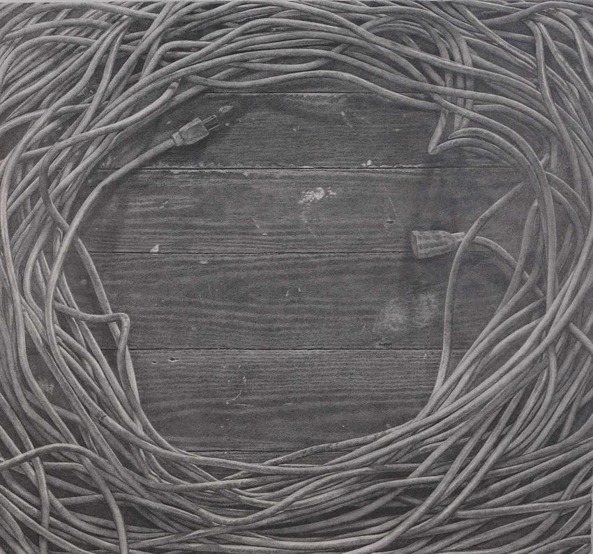 CATHERINE MURPHY<br /><i>Studio Floor</i><br />2015<br />graphite on paper<br />28 3/4 x 31 3/16 inches (73 x 79.2 cm)<br />