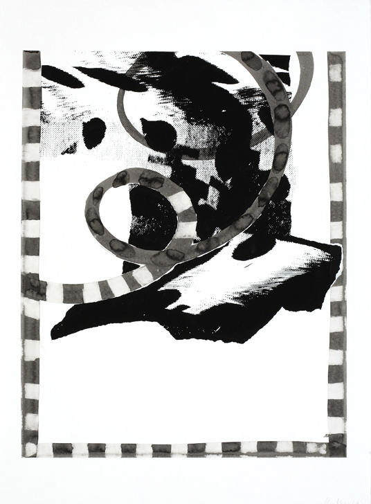 Untitled 2007 silkscreen, ink on paper 30.125 x 22.5 inches/76.5 x 57.2 cm