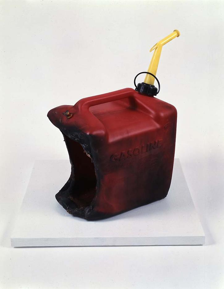 Sarah Morris: Large Industrial Gasoline Can, Blown Up 1993-1994 plastic 19.375 x 9 x 11 inches/49.2 x 22.9 x 27.9 cm