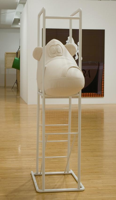 COSIMA VON BONIN Schuh/Shoe 2007 wool, fleece, powder-coated steel soft toy: 27.95 x 37.4 x 18.5 inches, 71 x 95 x 47 cm