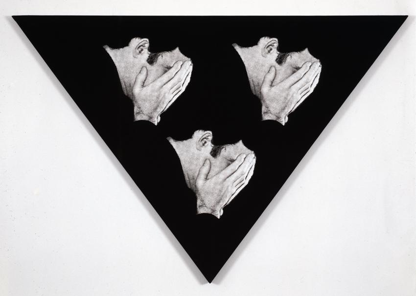 Untitled 1985 Silkscreen on linen 57.28 x 60.24 inches