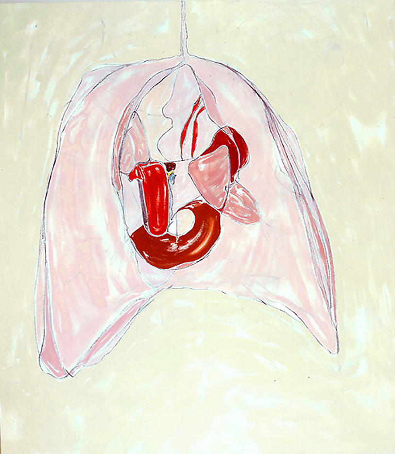 Spilled Guts 1999 acrylic on canvas 82 x 72 inches/208.3 x 182.9 cm