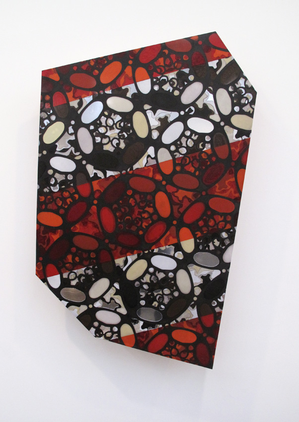 Untitled 2010 MDF and acrylic 62 x 51 inches