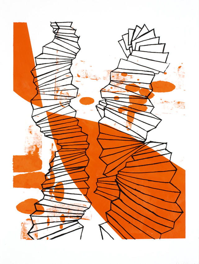 Untitled 2007 acrylic, silkscreen on paper 30.125 x 22.5 inches/76.5 x 57.2 cm
