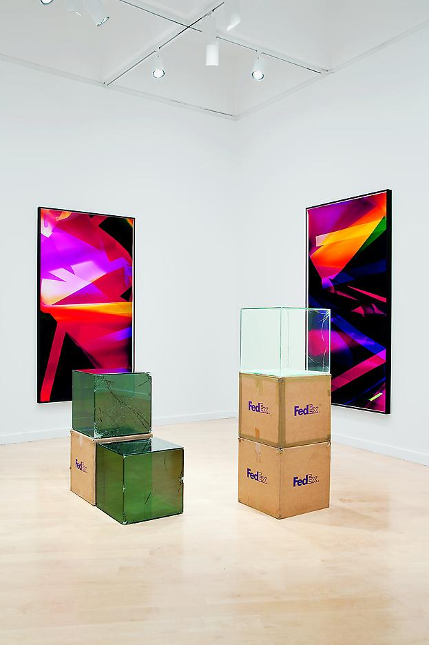 Walead Beshty Legibility on Color Backgrounds Installation view Hirshhorn Museum and Sculpture Garden