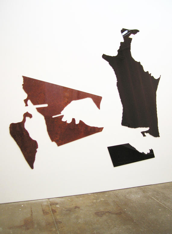 Untitled 2008 4 elements: burled Vavona Redwood and flat-cut African  Wenge wood and diamond acrylic plastic