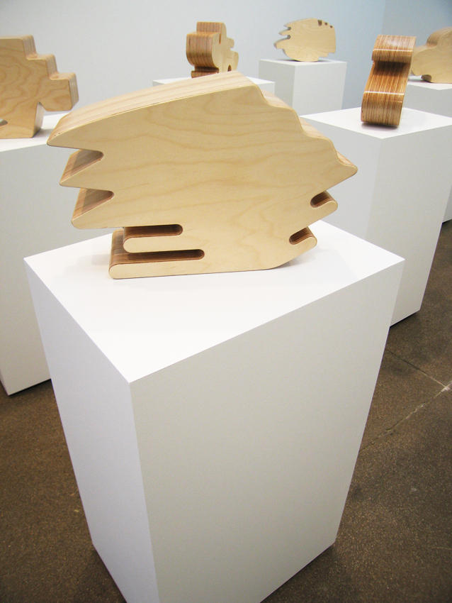 Shape 2006 laminated birch plywood 12 x 18 x 5.5 inches/30.5 x 45.7 x 14 cm