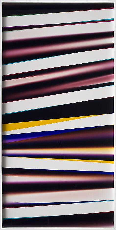 Walead Beshty Black Curl (9:6/YMC/Six Magnet: Los Angeles, California, March 21st 2013, Fuji Color Crystal Archive Super Type C, Em. No. 186-007, 08513) Photographic paper