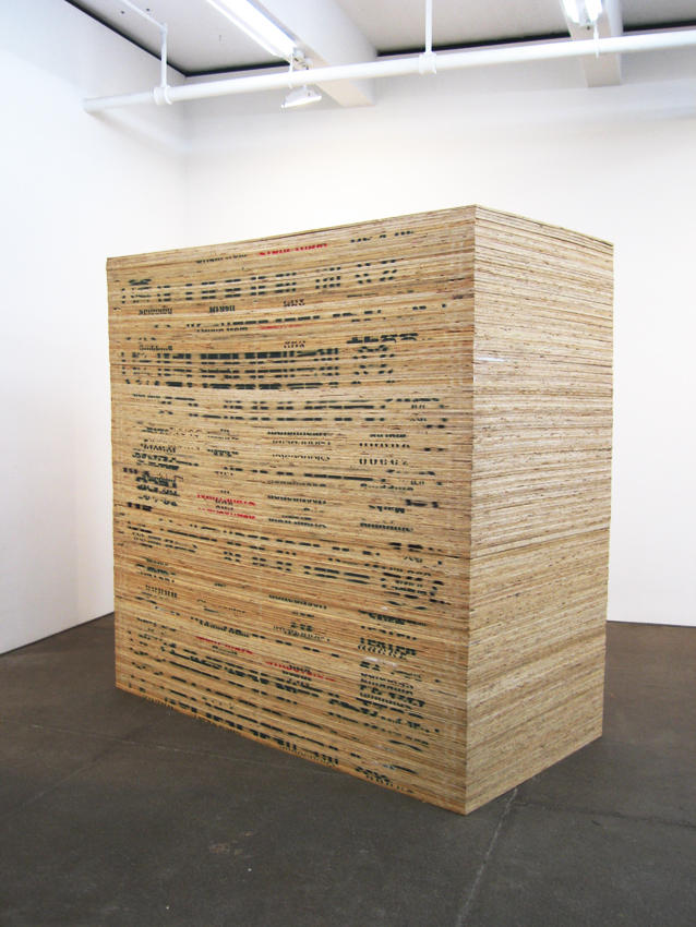 Martin Creed: Work No. 387: Plywood 2004 plywood 96 x 96 x 48 inches/243.8 x 243.8 x 121.9 cm