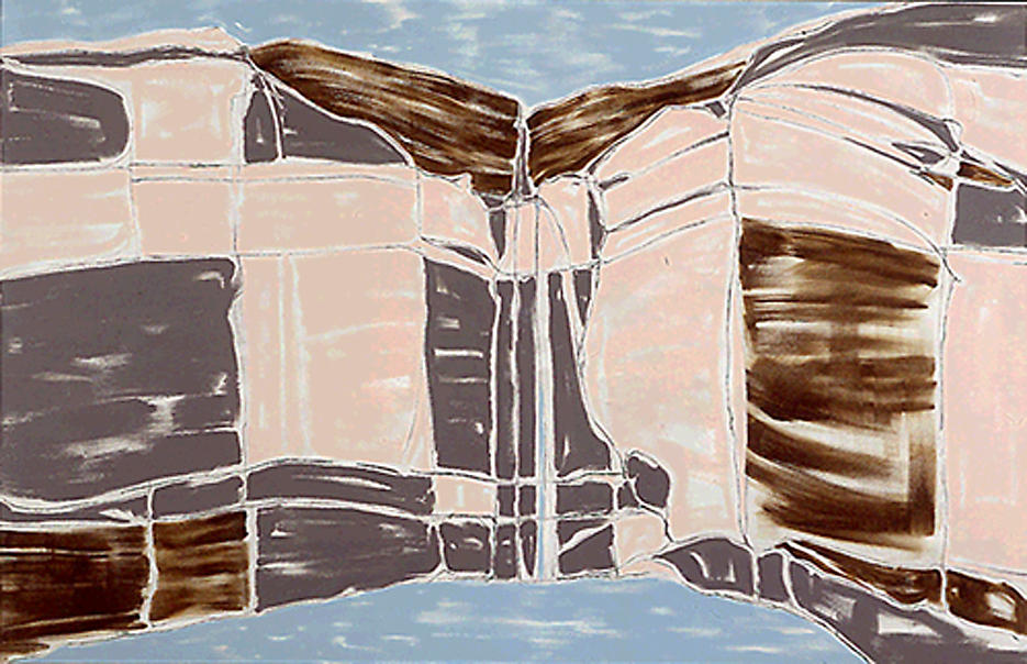View #3 1999 acrylic on linen 60 x 92 inches/152.4 x 233.7 cm