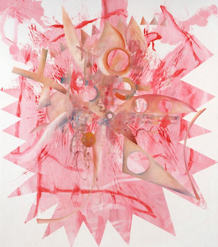 <i>Pink Vendetta</i> 2009 Acrylic and oil on linen 82 x 72 inches