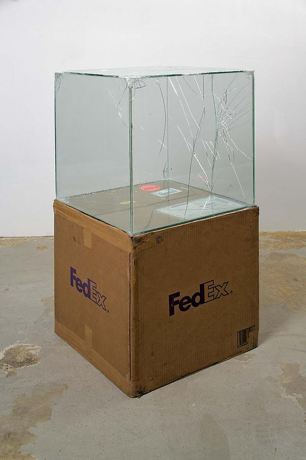 Walead Beshty FedEx® Large Craft Box ©2005 FEDEX 330508 REV 10/05 SSCC), International Priority, Los Angeles-Tijuana trk#865282057997, October 28-November 3, 2008, International Priority, Tijuana-Los Angeles trk#867279774918, January 2-6, 2009,