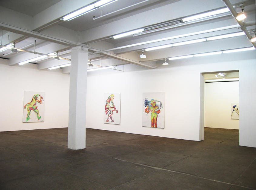 Maria Lassnig Installation view Friedrich Petzel Gallery 2005