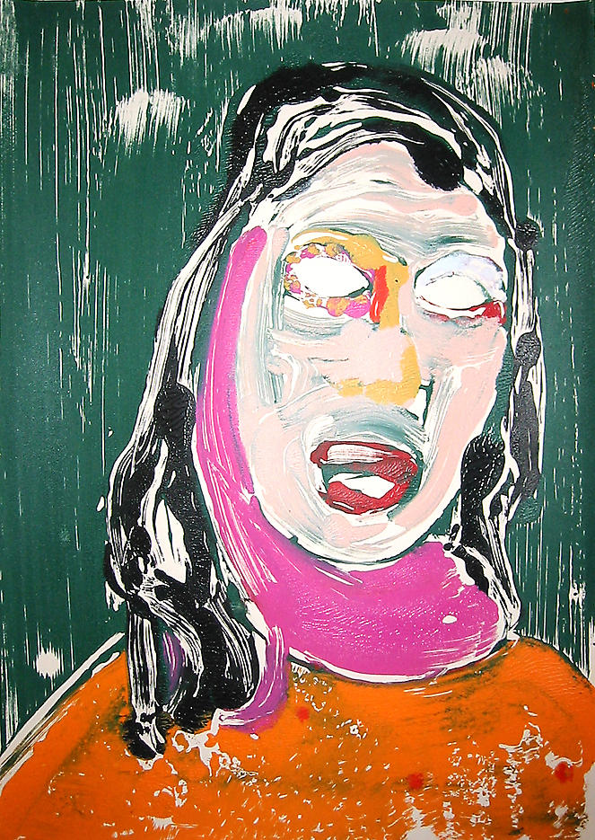 Portrait Head #8 2002					 acrylic on paper 20 x 14 inches/50.8 x 35.6 cm