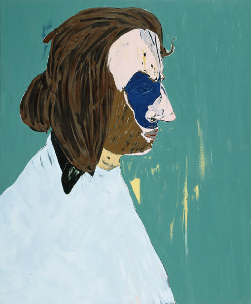 Bearded Artist 2005 oil and charcoal on linen 58 x 48 inches/147.3 x 121.9 cm