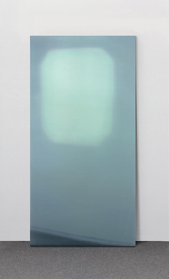 Luc Tuymans: Slide 2006, edition of 15, 3 AP digital pigment print on security glass plate 78.75 x 35.5 x 0.5 inches/200 x 90 x .9 cm