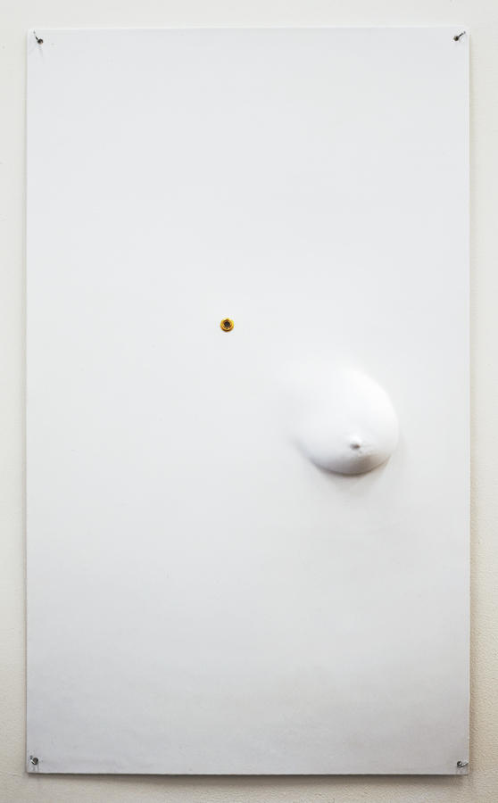 Seth Price Untitled 2004-2005 high-impact polystyrene and golden grommet