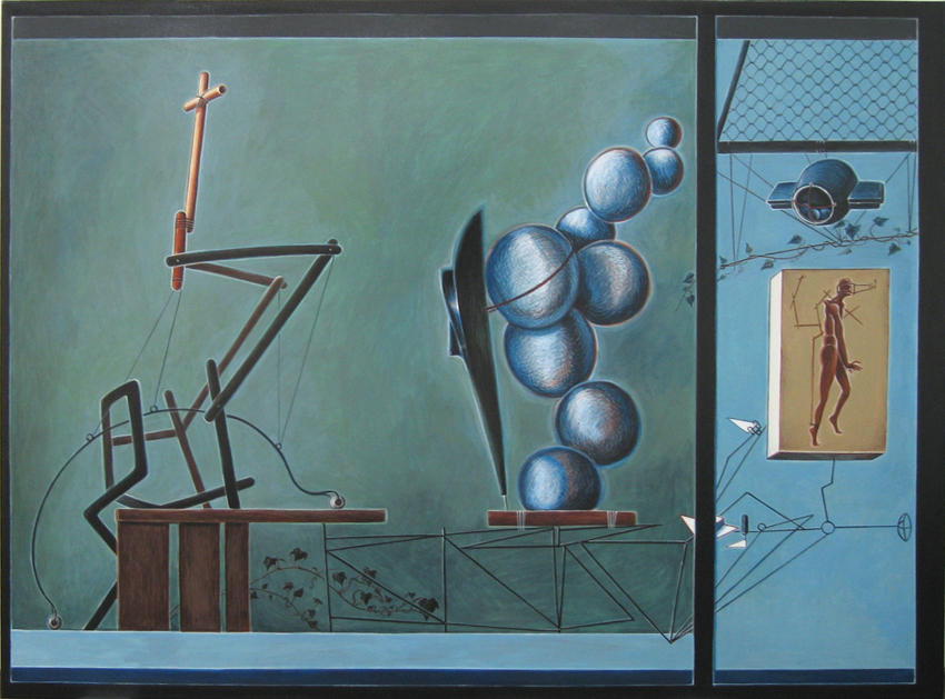 Divina Proportion (Gestalt des Geistes) 2003 acrylic on canvas 49.21 x 64.96 inches/125 x 165 cm