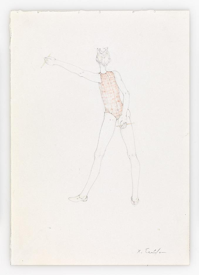Dancer-vu de dos- 2010 Pencil on paper 11.69 x 8.27 inches