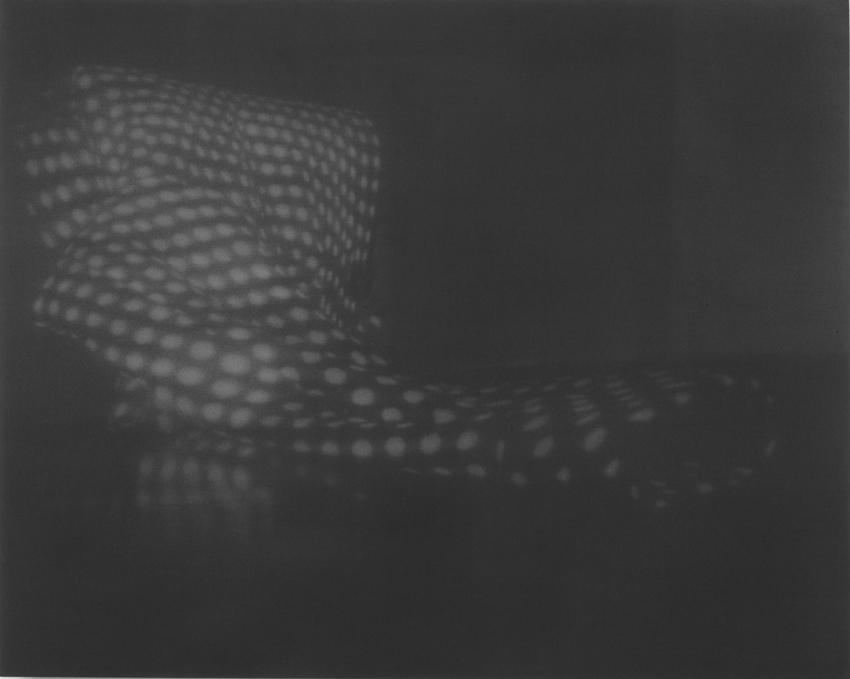 Untitled (Emily's Coat on Black Table) 2005 conte on cotton 40 x 50 inches/101.6 x 127 cm