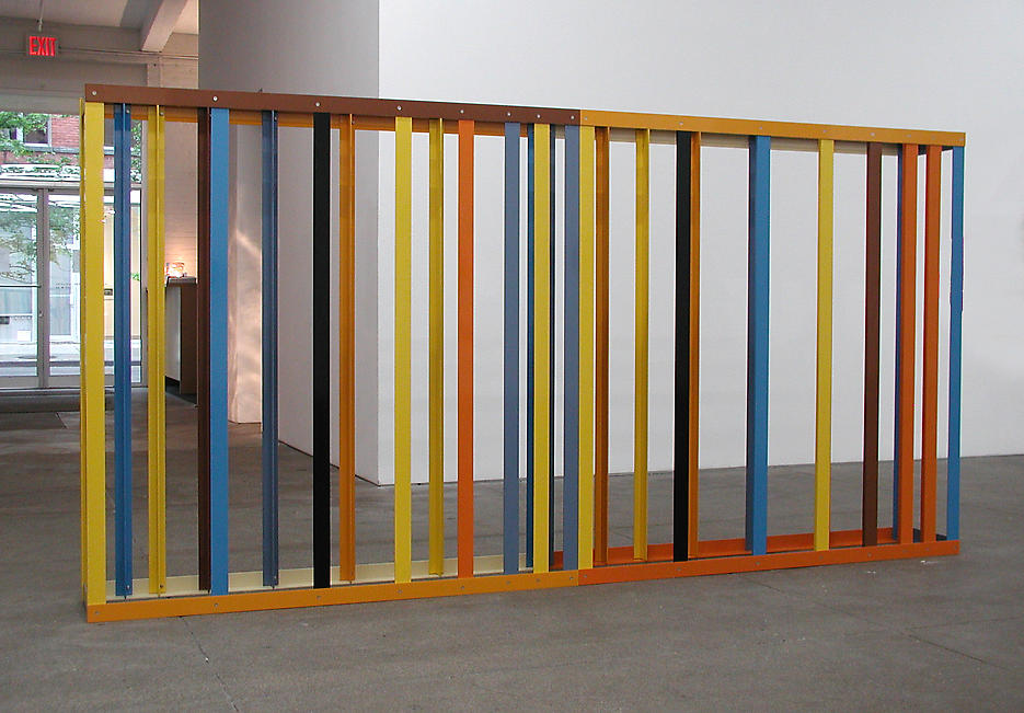 Liam Gillick: Lapse Screen 2003 powder coated aluminum 60 x 120 x 8 inches/152.4 x 304.8 x 20.3 cm