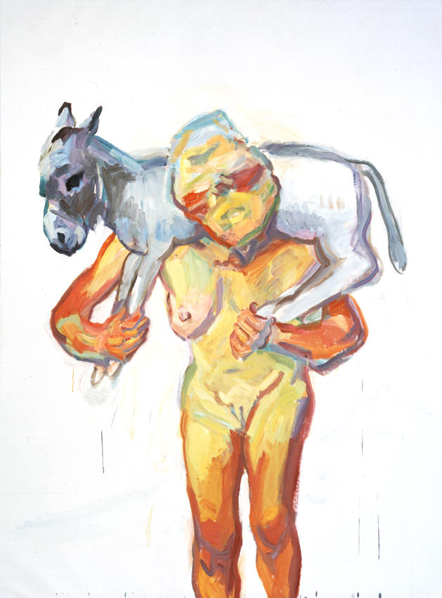 <i>Die Reiche Hirtin (The Rich Shepherdess)</i> 1999 Oil on canvas 78.74 x 59.06 inches