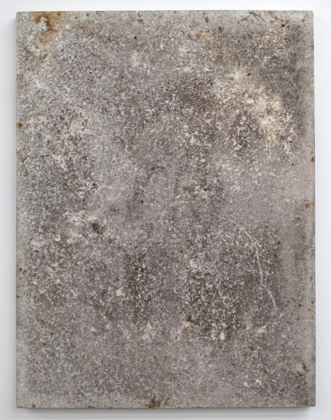 Karin Sander <i>Gebrauschsbilder</i> 2010 White primed canvas 48 x 36 inches