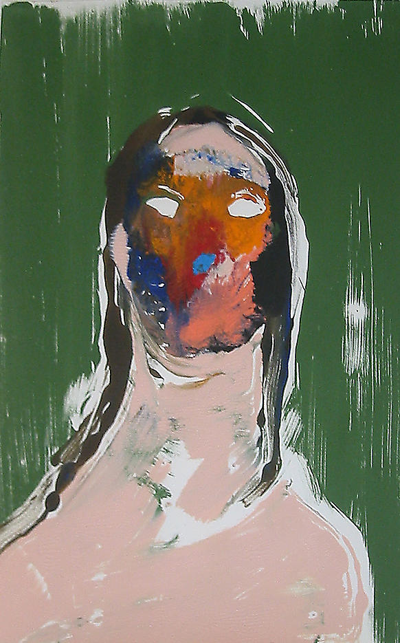 Large Head #2 2002 acrylic on paper 20 x 14 inches/50.8 x 35.6 cm