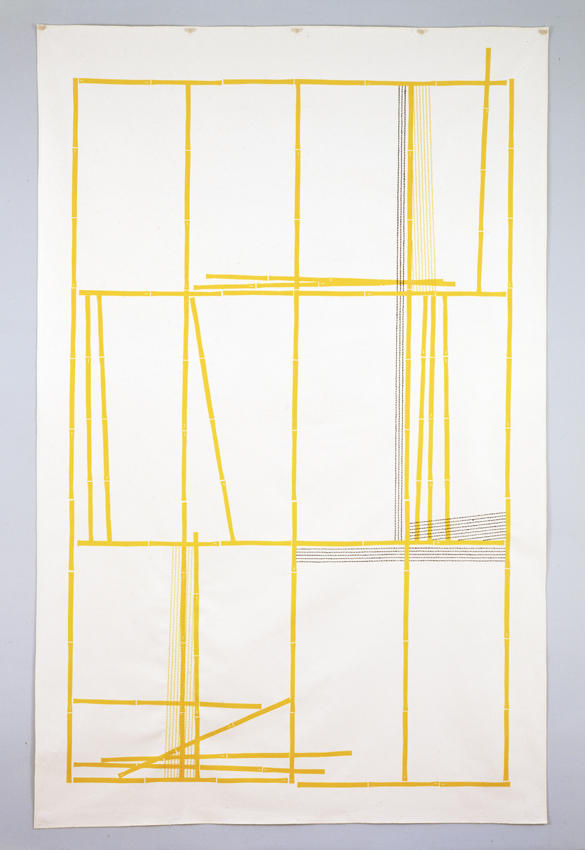 Uptown 2006 silkscreen and embroidery on canvas 95 x 60 inches/241.3 x 152.4 cm