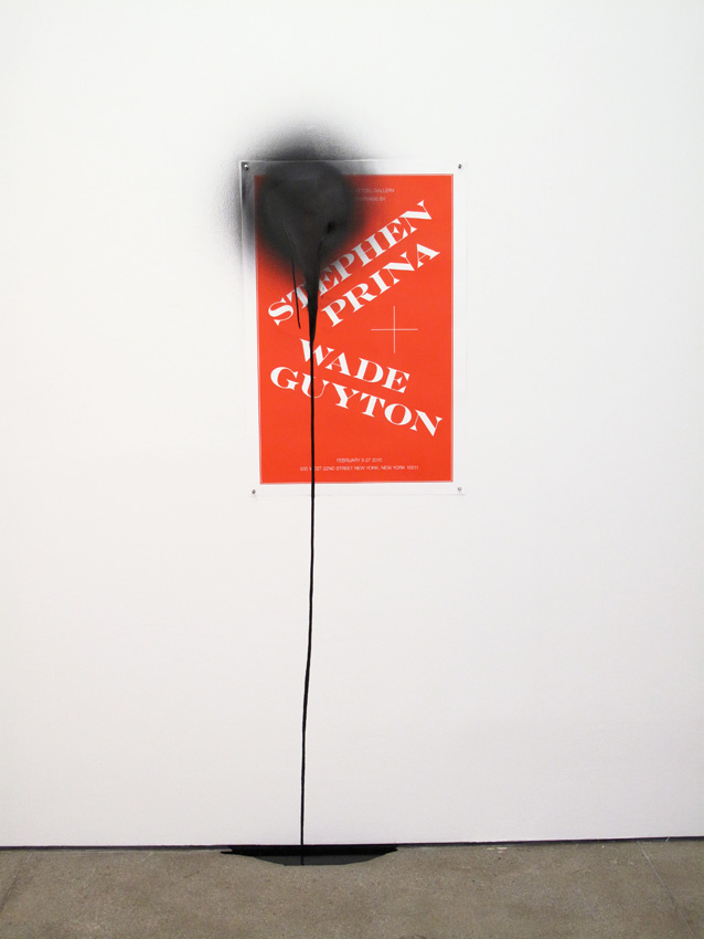 Stephen Prina <i>PUSH COMES TO LOVE, Untitled, 1999-2010 Poster: Joseph Logan</i>