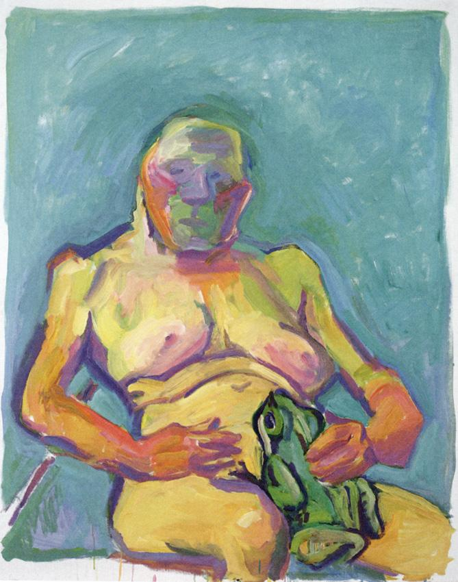 <i>Froschkoenigin/Frog Princess</i> 2000 Oil on canvas 49.21 x 39.37 inches