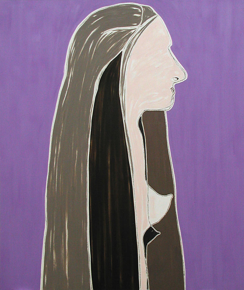 Portrait of My Sister 2002 oil on linen 58 x 70 inches/147.3 x 200 cm