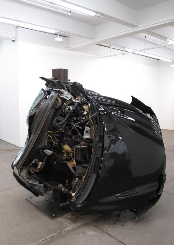 <i>Untitled (Crash 2)</i> 2009 Black Huyndai Tiburon 2001
