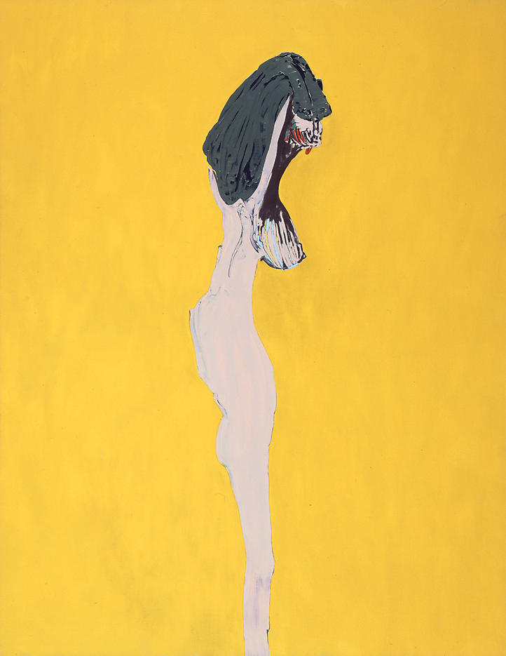 Nude 2005 oil and charcoal on linen 70 x 54 inches/177.8 x 137.2 cm