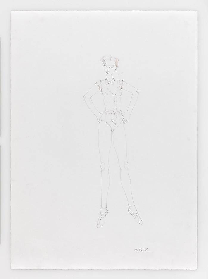 Dancer with Whistle 2010 Pencil on paper 20.87 x 14.96 inches