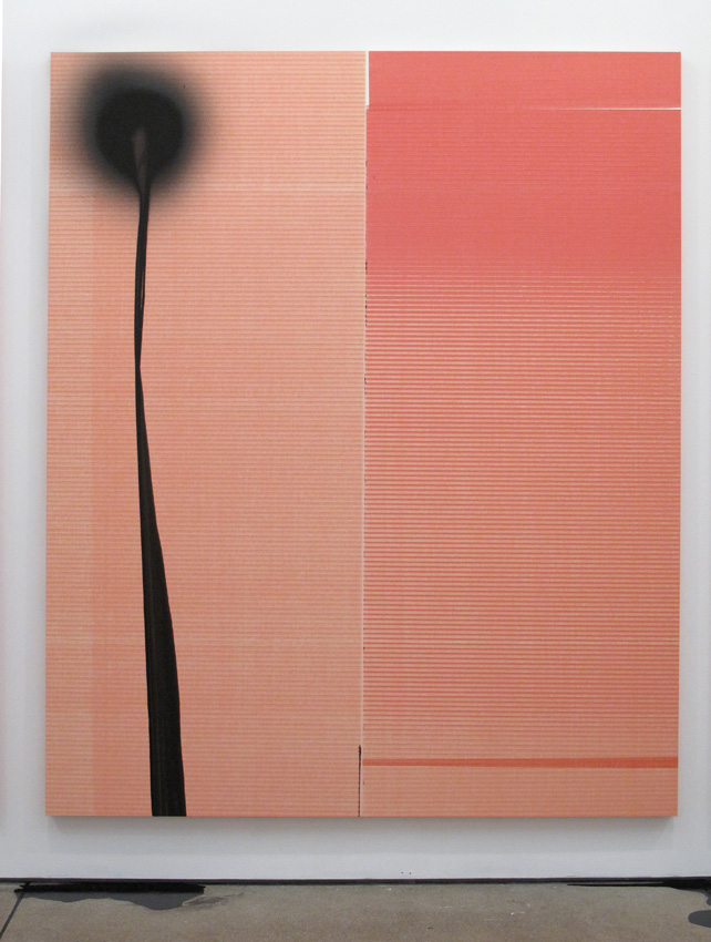Wade Guyton / Stephen Prina <i>Wade Guyton, Untitled, 2011, Epson UltraChrome inkjet on linen Stephen Prina, PUSH COMES TO LOVE, Untitled, 1999 - 2011</i> 2011