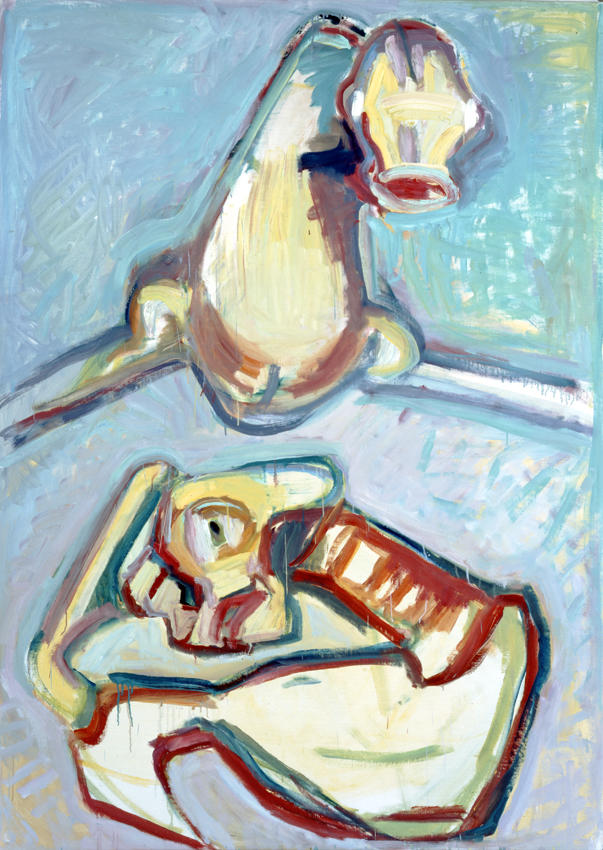 Die Oberen und die Unteren (The Superiors and The Inferiors) or (Those Above and Those Below) 1997 oil on canvas 78.74 x 59.06 inches/200 x 150 cm