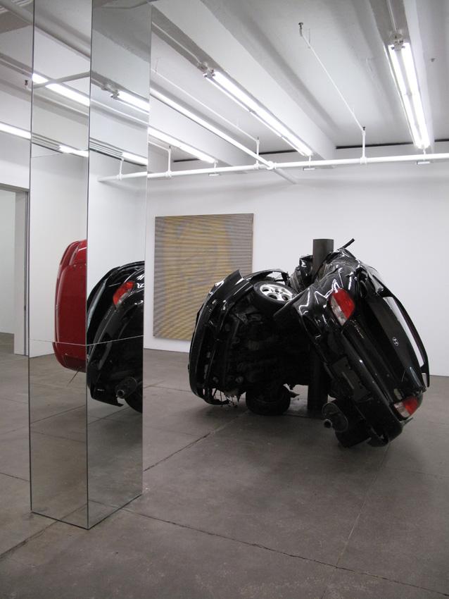 Dirk Skreber Installation view Friedrich Petzel Gallery 2009