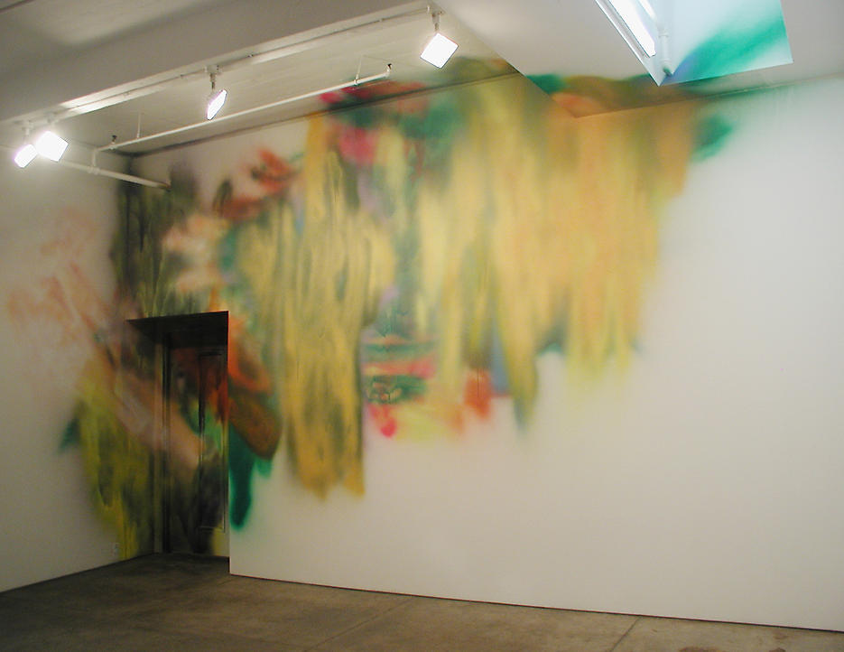 Katharina Grosse: Untitled 2003 acrylic on wall dimensions variable