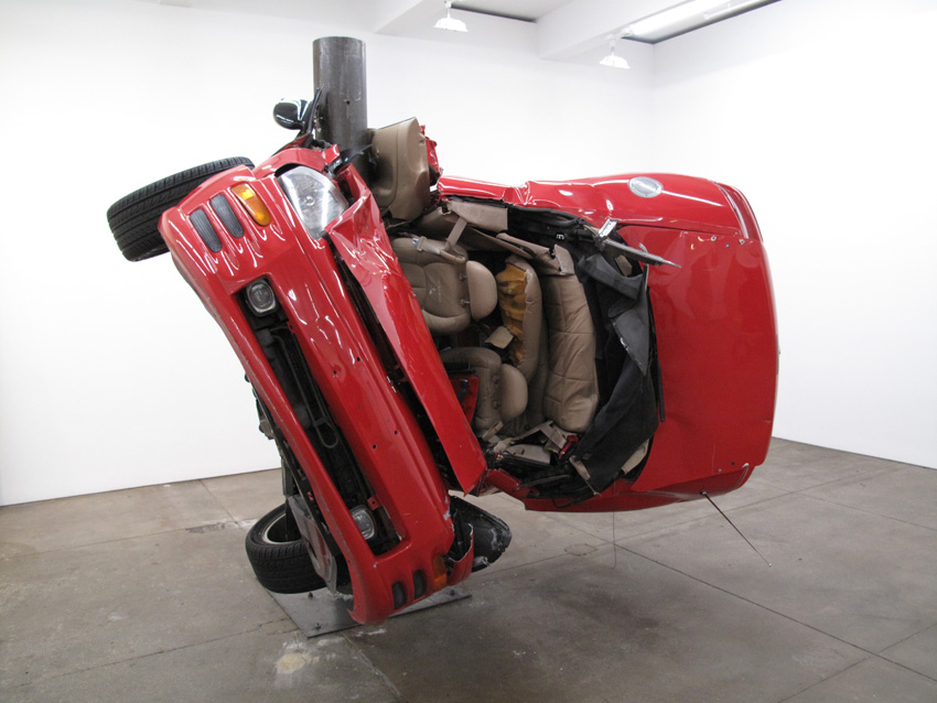 Dirk Skreber Untitled (Crash 1) 2009 Red Mitsubishi Eclipse Spider 2001
