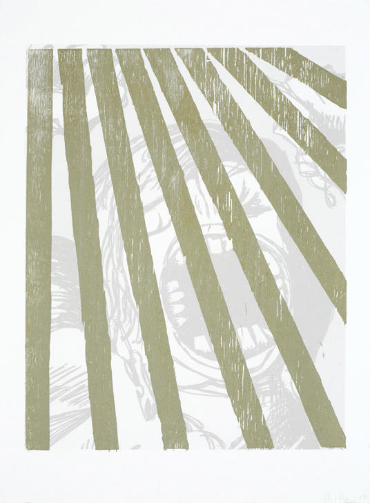 Untitled 2007 woodcut on digital on paper 30.125 x 22.5 inches/76.5 x 57.2 cm
