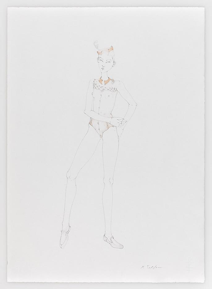 Dancer with Loafers 2010 Pencil on paper 20.87 x 15.16 inches