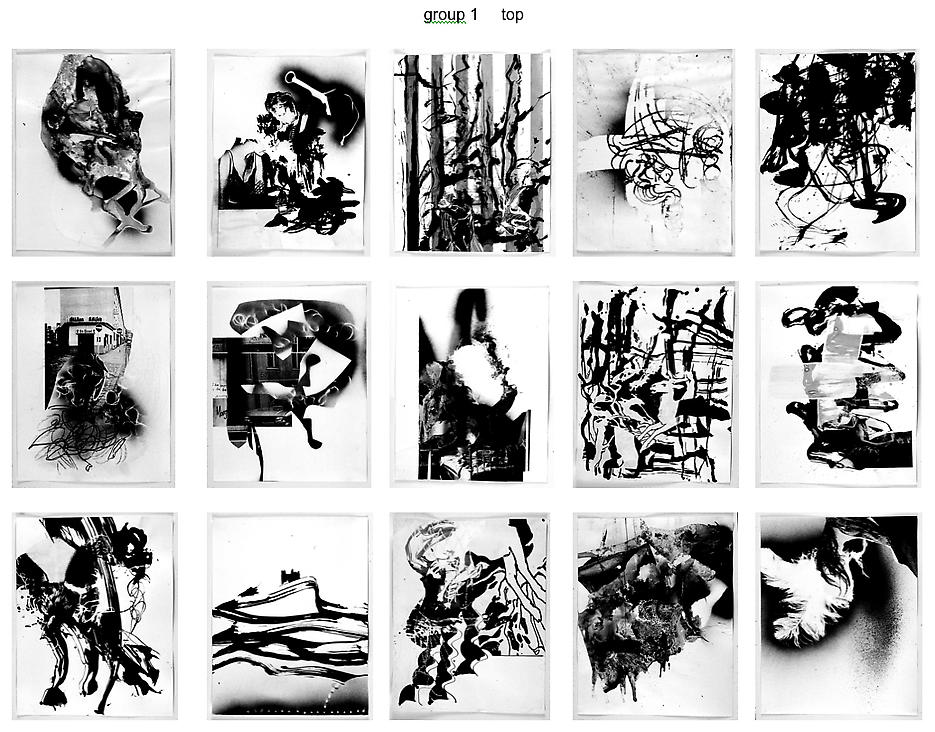 Untitled (set of 15) 2005 photocopy, collage, ink on paper each: 24 x 19 inches/61 x 48.3 cm