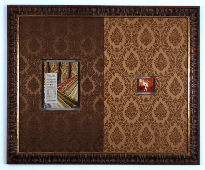 Bremen Towne - Jacquard Damask Drapery Collage 2008 various materials 37.5 x 46 inches/95.3 x 116.8 cm