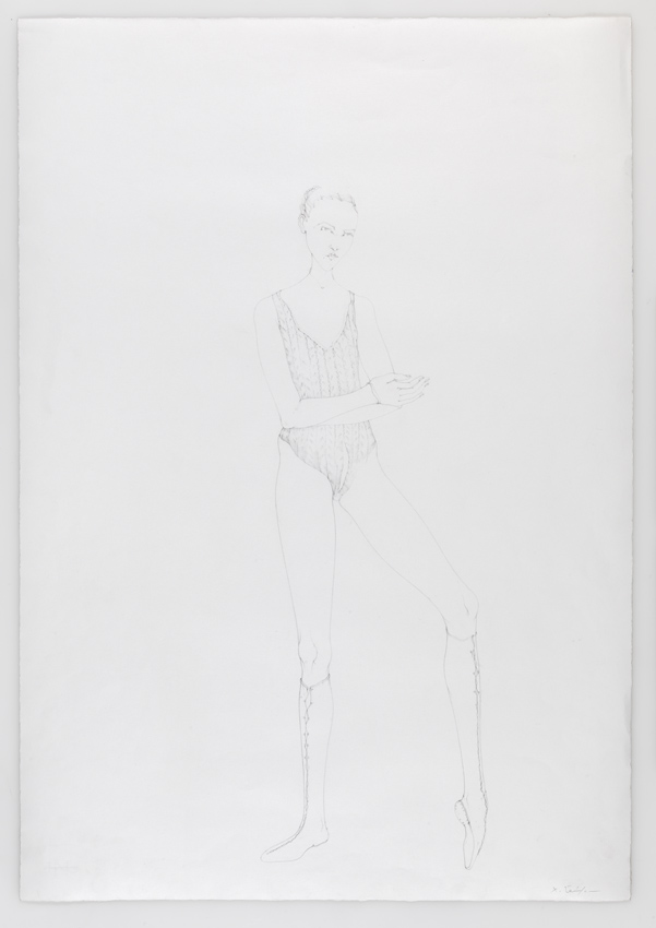 Dancer with Ribbon 2010 Pencil on paper 30.31 x 20.87 inches