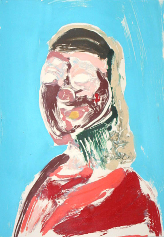 Portrait Head #3 2002				 acrylic on paper 20 x 14 inches/50.8 x 35.6 cm
