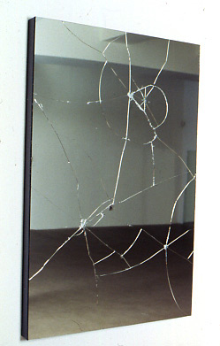 HEIMO ZOBERNIG Untitled 1991 Mirror, wood 57.09 x 38.19 x 3.15 inches, 145 x 97 x 8 cm