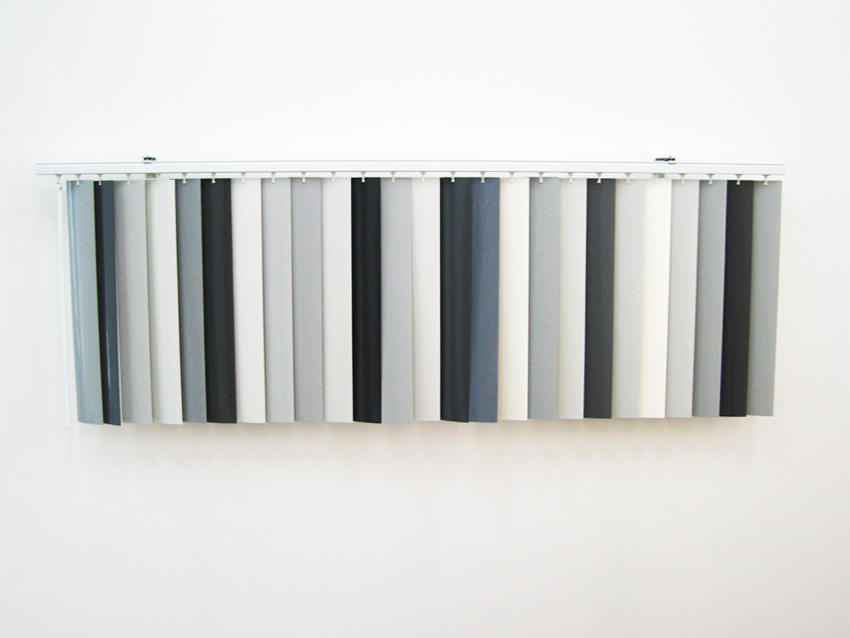 Robert Melee: Curtain Behavior 2004-2007 metal, enamel on plastic 25 x 78 inches/62.5 x 198.12 cm